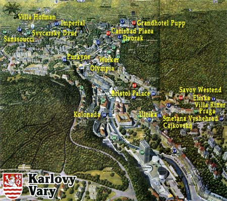 Карловы Вары : карта-схема