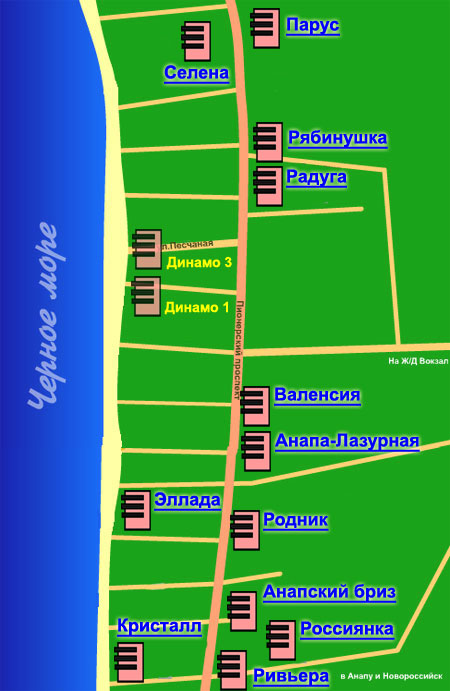 Джемете карта схема курорта