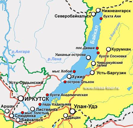 Где на карте находится озеро байкал