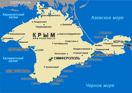 Крым: карта Крымского