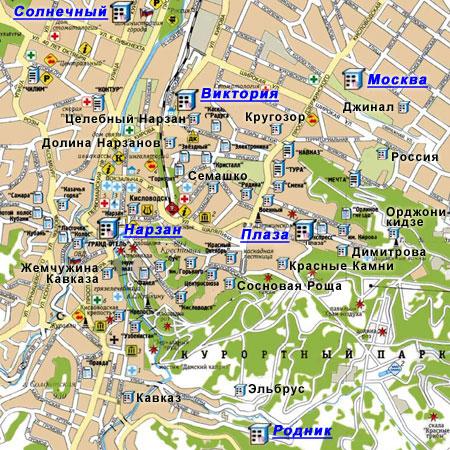 Витязево : карта-схема курорта