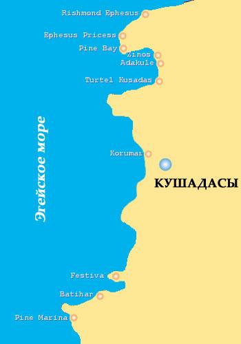 карта Кушадасы