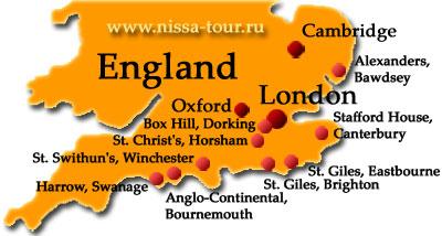 Англия карта схема
